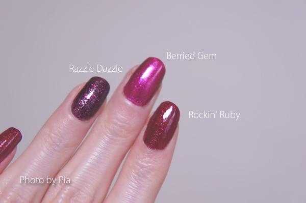Mineral Fusion, Rockin' Ruby, Berried Gem, Deborah Lippmann Razzle Dazzle