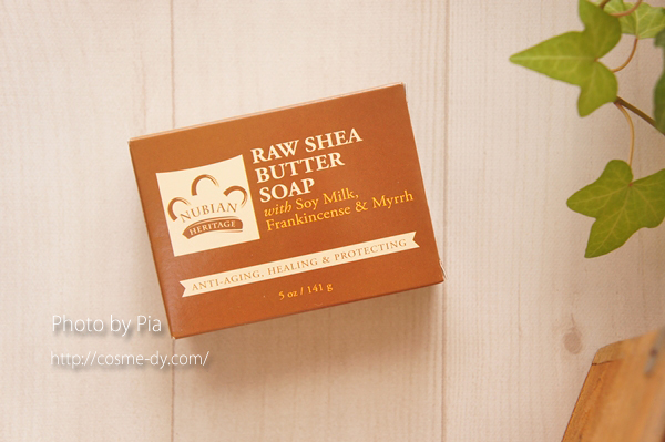 Nubian Heritage, ヌビアンヘリテージ, Raw Shea Butter Soap, With Soy Milk, Frankincense & Myrrh